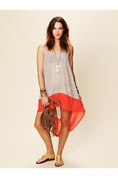 Hi Low Color Block Dress