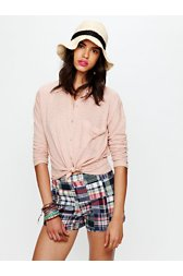 FP Madras Plaid High Waisted Shorts