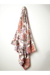 Damask Flower Beach Towel