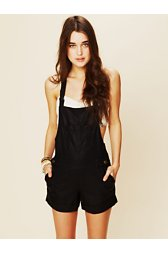 Vegan Leather Overalls