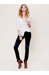 La Parisienne Patch Skinny Jeans