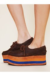 Carmel Stacked Boatshoe