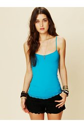 Lace Trim Seamless Tank
