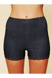 Denim High Waist Boy Short