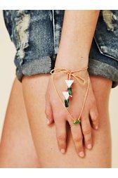 Rhinestone Ring Wrap Bracelet