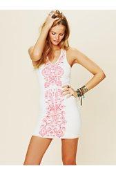 Coral Gaze Dress