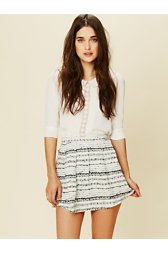 Ribbon Fit and Flare Mini Skirt