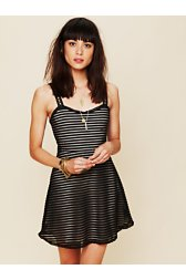 Striped Fitnflare Dress
