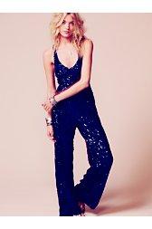 Sapphire Sequin Jumpsuit