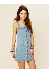 Rigid Denim Shift Dress