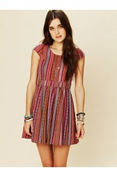 Log Cabin Woven Dress