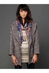 Golden Sun Tweed Coat