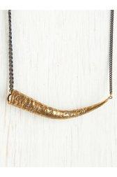 Engraved Springbok Horn Necklace