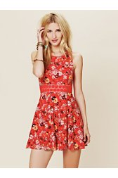 Floral Print Daisy Fit and Flare