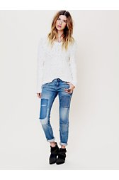 Patched Skinny Jean