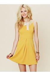 Waffle Knit Collar Dress