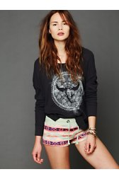 Fleece Patterned Shorts