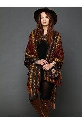 Woven Blanket Poncho