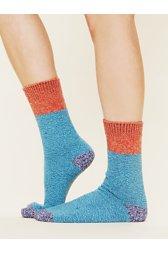 Colorblock Boot Sock