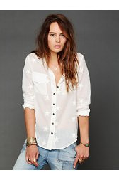 Star Embroidered Buttondown