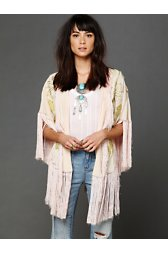 Embroidered Crepe Shawl