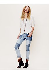 Two Toned Seamed Skinny