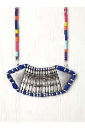 Thread Wrap Statement Necklace
