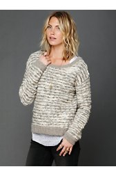 Comes in Waves Slouchy Pullover