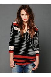 Stripe Crochet Tee