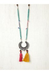 Crescent Tassel Necklace