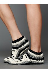 Chunky Cable Slipper Sock