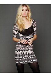 Printed Long Sleeve Bodycon