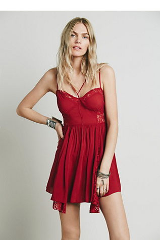 Intimately Womens Strappy Front Fit and Flare Slip