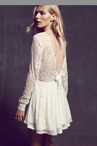 For Love & Lemons Womens Lolo Lace Fit and Flare Dress