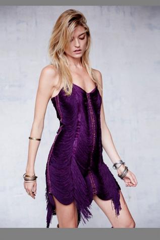 Free People Womens Jagger Fringe Dress