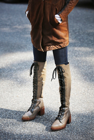 Jeffrey Campbell + Free People Womens Geron Lace Up Boot