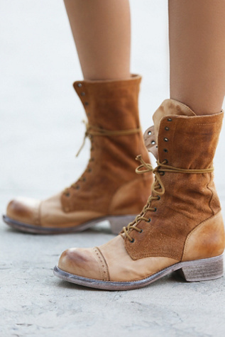 Free People Womens Traveling Lace Up Boot