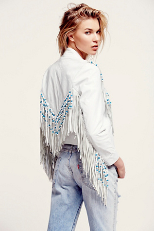 Spell Womens Hendrix Fringe Leather Jacket
