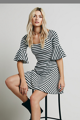 FP Beach Womens Striped Fit Flare and Flare