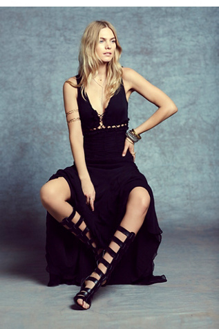 Free People Womens Solid Frequency Maxi