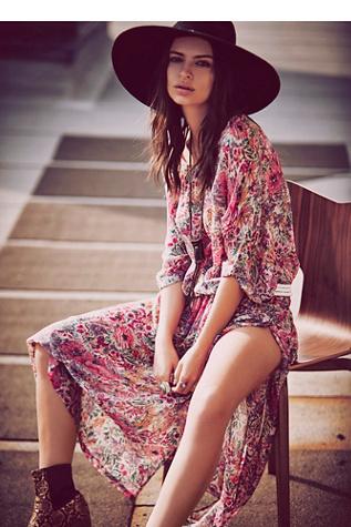 Mes Demoiselles Paris Womens Antique Floral Print Dress