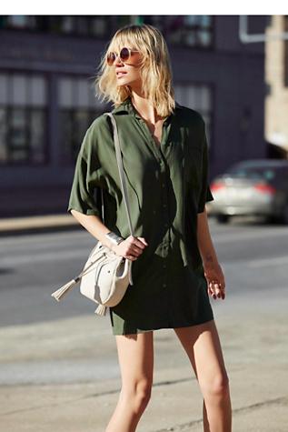 Motel Womens Stella Shirt Dress