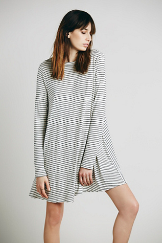FP Beach Womens Striped Elise Dress