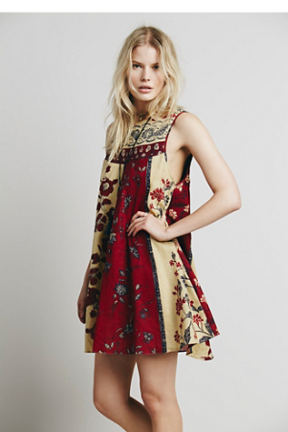 Free People Womens Russian Circles Dress
