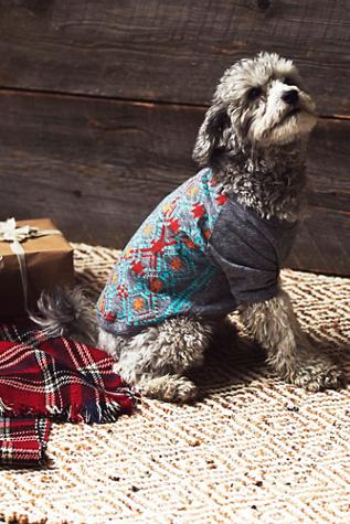 Free People Pet Project Womens Tribal Print Doggie Tee
