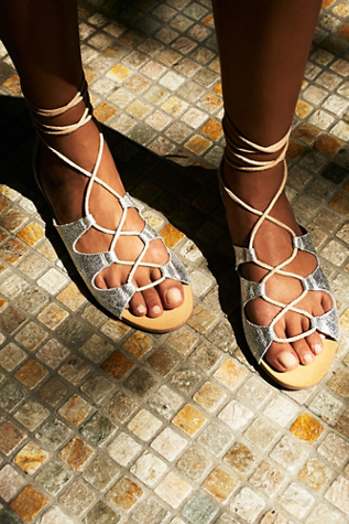 Free People Womens Marrakesh Lace Up Sandal
