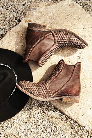 faryl robin + Free People Womens Panama Woven Chelsea Boot