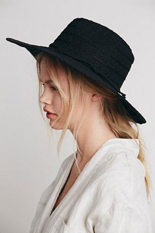 Free People Womens Lace Lover Wide Brim Hat $28.00 AT vintagedancer.com