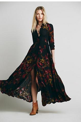 Free People Womens After The Storm Maxi