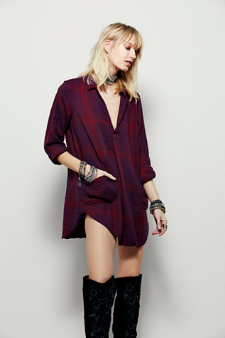 Free People x CP Shades Womens Campfire Shirt Dress